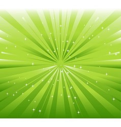 Green background with ray and star light vector
