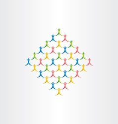 group of people crowd icon design symbol vector image