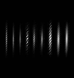 Halftone divider lines set vector