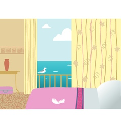 hotel room vector image