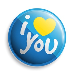 I love u button vector