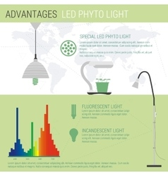 Infographic elements LED lamp vector image