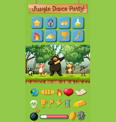 jungle dance party game pack vector image