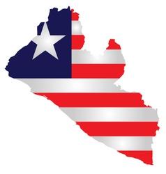 Liberia Flag vector image