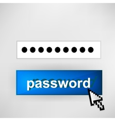 Login button - with abstract cursor vector image