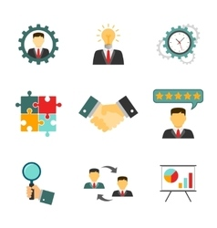 Management icons flat vector image