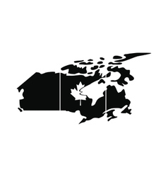 map canada icon simple style vector image