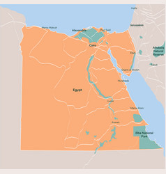Map egypt isolated eps 10 vector