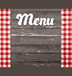 Menu wooden background with the vector