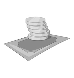 Money cash icon gray monochrome style vector image