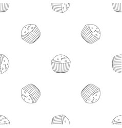 muffin pattern seamless vector image