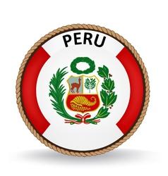 Peru Seal vector image