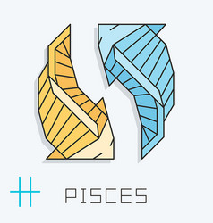 Pisces sign vector