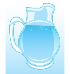 Pitcher with clean drinking water vector