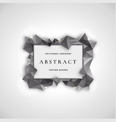 Polygonal frame abstract sign symbol or vector