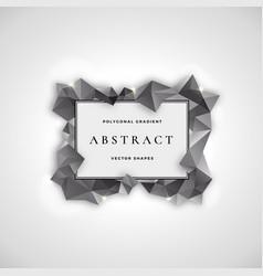 Polygonal frame abstract sign symbol vector