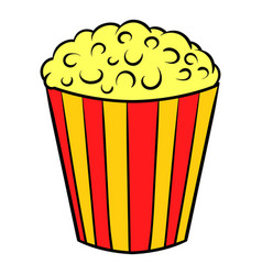 popcorn icon cartoon vector image