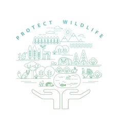 Protection nature vector