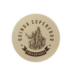 Quinoa superfood eco label vector