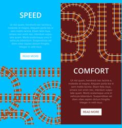 railway pros banner vector image