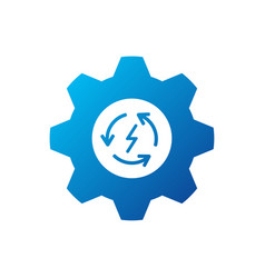 recycle with gear logo concept template simple vector image