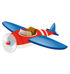 Red airplane with blue wings vector