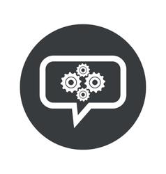Round gears dialog icon vector
