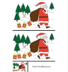 Santa Claus puzzle vector image