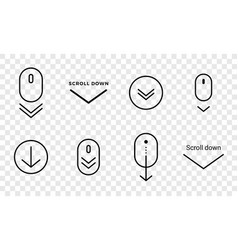 scroll down icon scrolling symbol for web design vector image