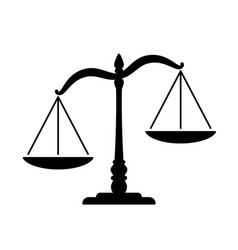 Simple classic justice unbalanced scales vector