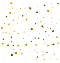 Star pattern white background gold gift wrap vector