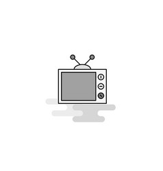 television web icon flat line filled gray icon vector image