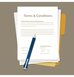 terms and condition of contract document signed vector image