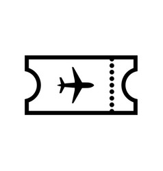 the blank ticket plane icon travel symbol vector image