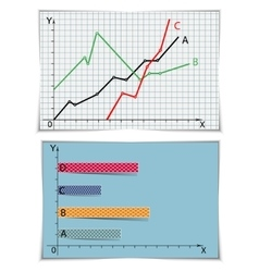 Two graphs set vector