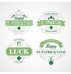 Typography st patricks day vector