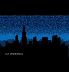 Urban cityscape seamless background night city vector
