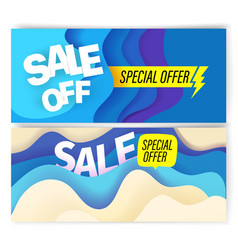 vbanners template with abstract color waves sale vector image