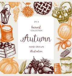 Vintage autumn template vector