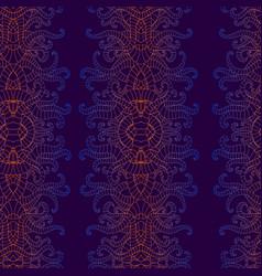 vintage psychedelic vertical decorative ornament vector image