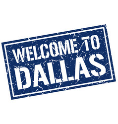 Welcome to dallas stamp vector