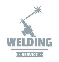Welding workshop logo simple gray style vector