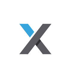 x letter icon design vector image