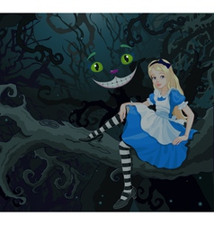 Alice in Wonder Forest vector image vector image