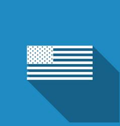 american flag icon with long shadow flag of usa vector image