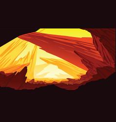 background of fantastic mountain landscape vector image vector image