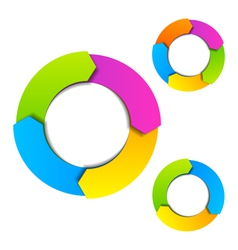 Circle diagram vector image vector image