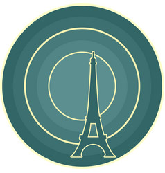 eiffel tower in paris gradient radiant backdrop vector image vector image