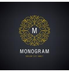 Luxury monogram Vintage logo icon vector image
