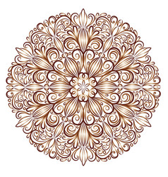 mandala pattern in the stained glass style vector image vector image